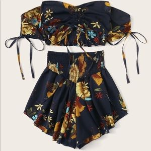 Two piece with shorts!
